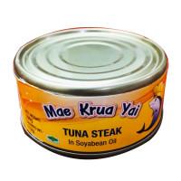 Mae Krua Yai Tuna Steak in Soyabean Oil 160g
