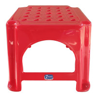 7 Stars Red Plastic Stool Small Code 501