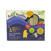 Love Earth Baby Noodles Organic Carrot, Sweet Potato & Spinach For 7months and above 180g