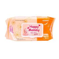 Happy Mammy Baby Wipes 105 pcs (Orange)