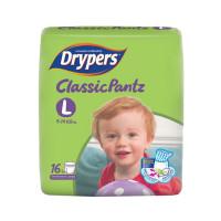 Drypers Baby Diaper Pants Classic Size-L 16pcs