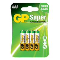 GP Super Alkaline AAA Card 4's
