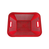 7 Stars  Red Square Plastic Basket Code 016