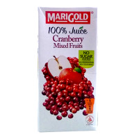 Marigold 100% Fruit Juice Cranberry Mixed 1Ltr