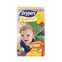 Drypers Baby Diaper Dry Pants Jumbo Size-L 36pcs