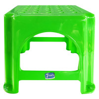 7 Stars Green Plastic Stool Small Code 501