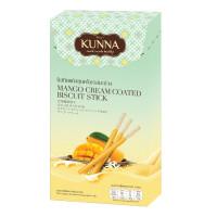 KUNNA Healthy Snack Mango Cream Coated Biscuit Stick 30g